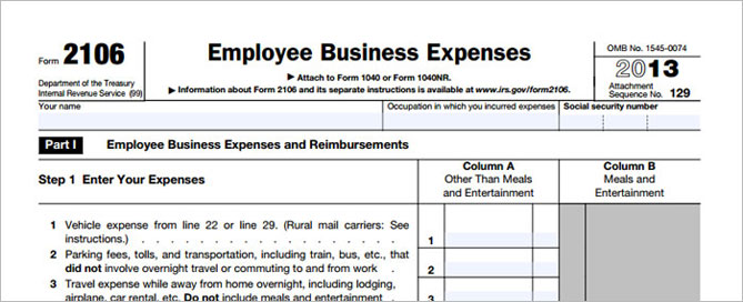 Ryohee Form 2106 Employee Business Expenses